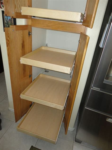 Sliding Drawers For Cabinets by 17 Best Images About Pull Out Pantry Shelves On