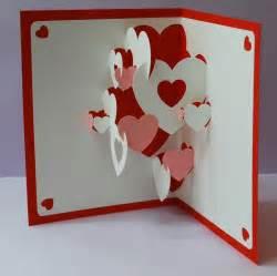 Pop Up Valentine Card Heart