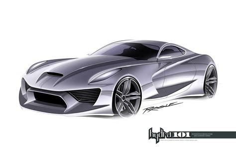 supercar design sketch  gary ragle car body design