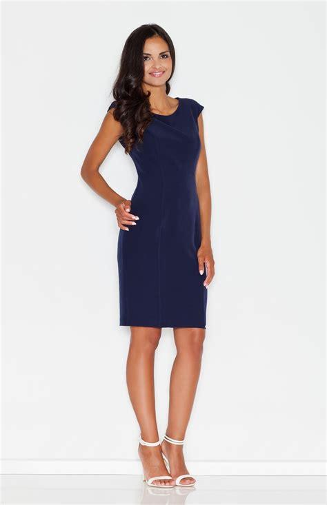 robes bureau marine blue pencil dress flm378b idresstocode
