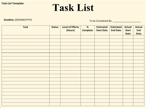 work log template