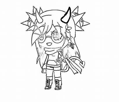 Gacha Coloring Printable Ausmalbilder Colorear Pintar Anime