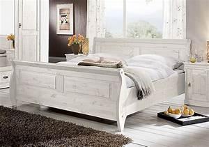 Kolonial Bett 160x200 : schlafzimmer set 4teilig kiefer massiv wei lasiert ~ Michelbontemps.com Haus und Dekorationen