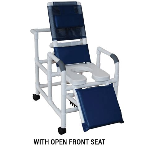 mjm international reclining shower chair with soft deluxe