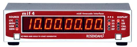 mif midi timecode interface