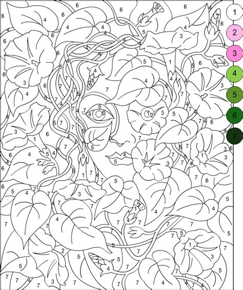 color by number adults s free coloring pages color by number