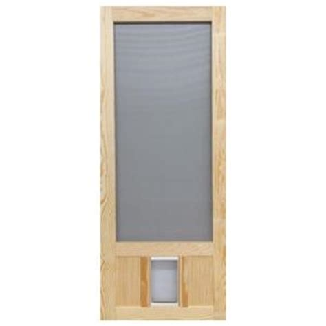 home depot wooden screen doors 30 in x 80 in chesapeake series reversible wood screen