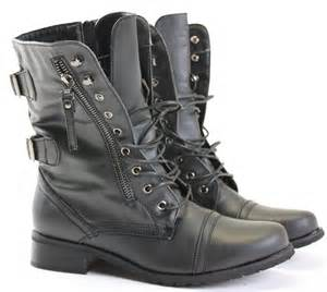 womens boots uk lewis womens combat style army worker ankle boots flat shoes size ebay