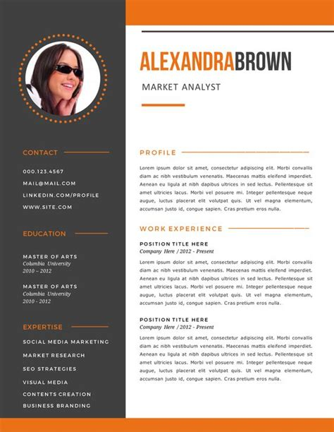 Contoh Resume Fashion Designer by Burnt Orange Resume Exles Sle Resume Templates Sle Resume Objective Free Resume