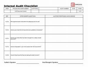 internal audit procedure template - 15 internal audit checklist templates samples examples