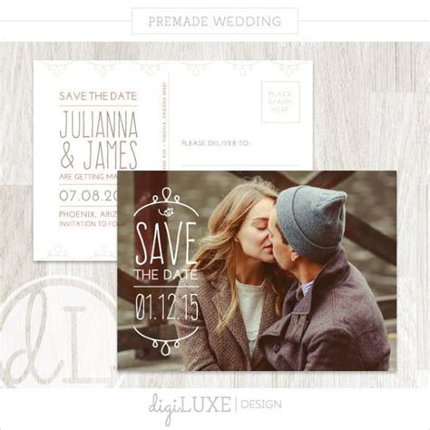 save  date postcard template   psd vector eps ai