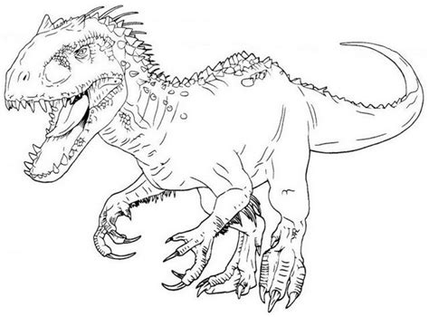 Indominus Kleurplaat by Jurassic World Coloring Pages Indominus Rex At