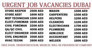 urgent job vacancies dubai dubai job walkins With documents required for job in dubai