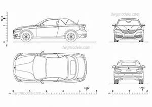 Bmw 2 Series Cabrio Car Cad Blocks Download  Autocad