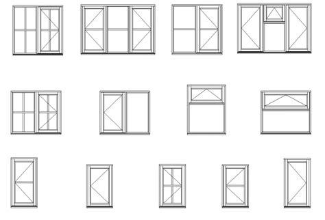 aluminum frame casement window elevation  section layout file cadbull