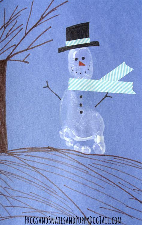 footprint snowman craft  kids fspdt