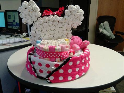 minnie mouse diaper cake diaper cakes bebe panales