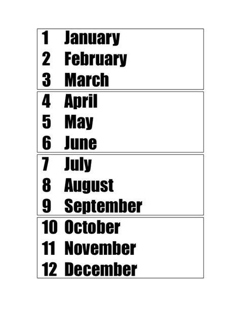 learn the months of the year their numbers seasons