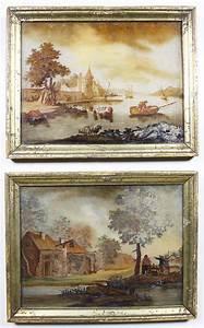 a pair of flemish 18th century quot verre églomisé