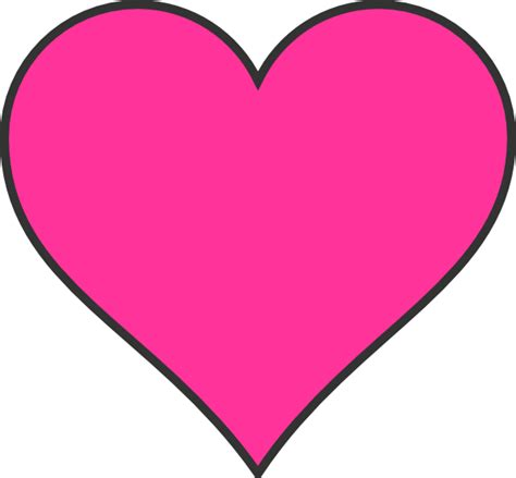 Dark Pink Heart Clip Art