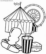 Coloring Pages Circus Carnival Preschool Printables Books Crafts Activities sketch template