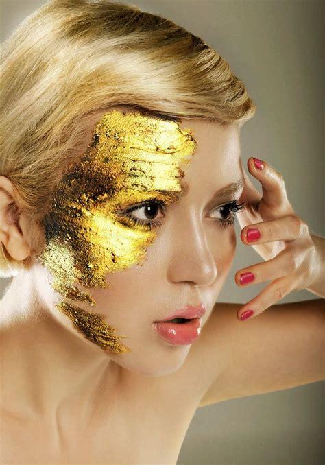 make up gold gold leaf makeup retouching gold make up