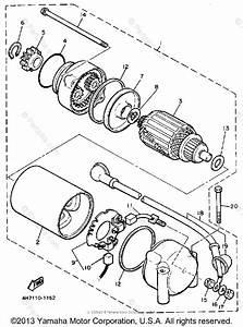 Yamaha Motorcycle 1983 Oem Parts Diagram For Starter Motor