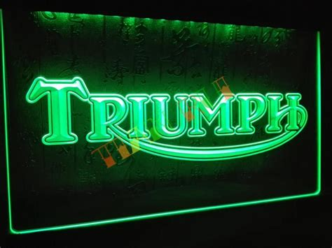 neon signs for home decor lg051 triumph motorcycles services repairs neon sign home