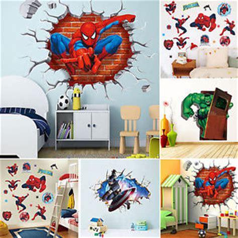 marvel super hero removable kids frame room decor wall