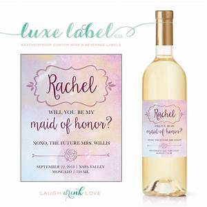 will you quotbe my bridesmaidquot wine label maximcreativeinvites With custom wine bottle labels for bridesmaids
