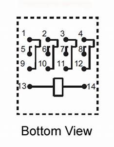 4pdt 24vdc 5a 14 Pin Terminals Relay