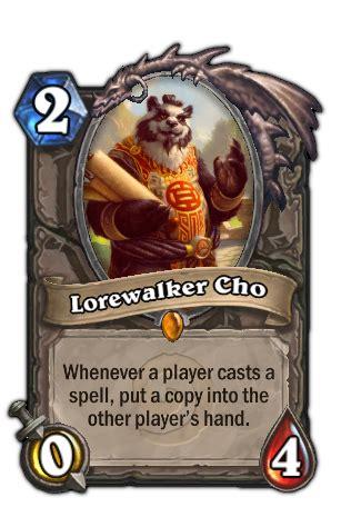 lorewalker cho legend deck lorewalker cho hearthstone heroes of warcraft wiki