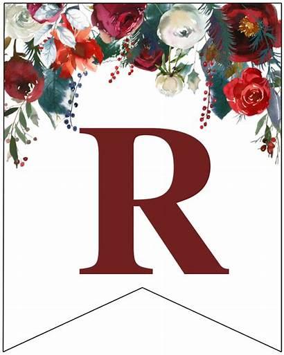 Banner Floral Letters Letter Printable Trail Paper