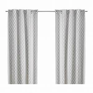 Rideaux Jaunes Ikea : henny rand rideaux 2 panneaux blanc brun gris ikea ~ Teatrodelosmanantiales.com Idées de Décoration