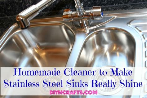 how to shine stainless steel sink homemade cleaner to make stainless steel sinks really