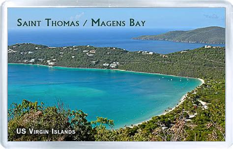 Acrylic Fridge Magnet United States Virgin Islands Saint