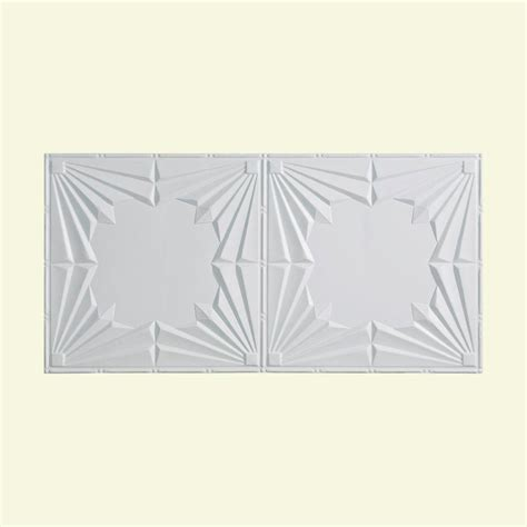 fasade deco 2 ft x fasade deco 2 ft x 4 ft glue up ceiling tile in