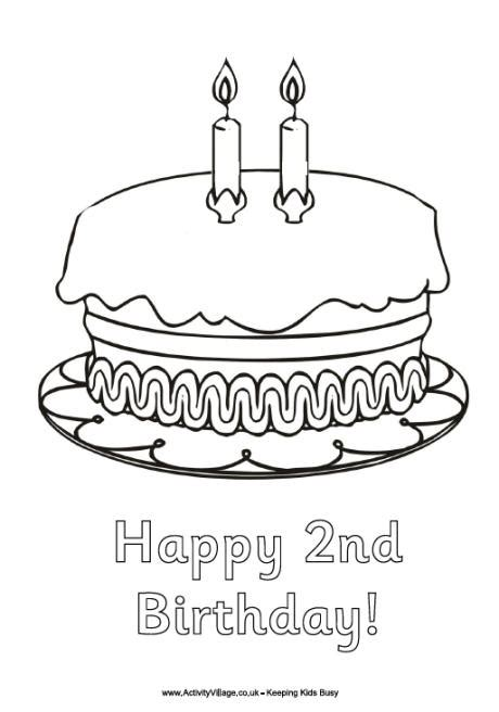 happy  birthday colouring page