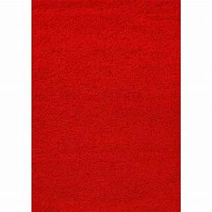 tapis shaggy deco rouge 120x160 40mm achat vente tapis With tapis rouge achat