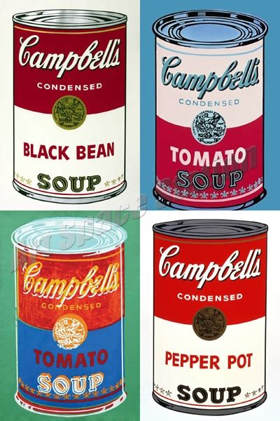 Andy Warhol Dose by Andy Warhol Cbell S Soup Cans Poster Print On Canvas 36