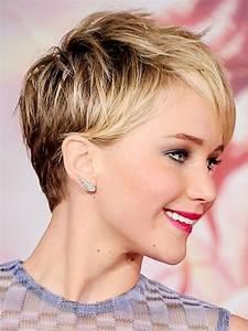 Coiffure Blonde Courte : jennifer lawrence frisuren auf die frisuren ~ Melissatoandfro.com Idées de Décoration