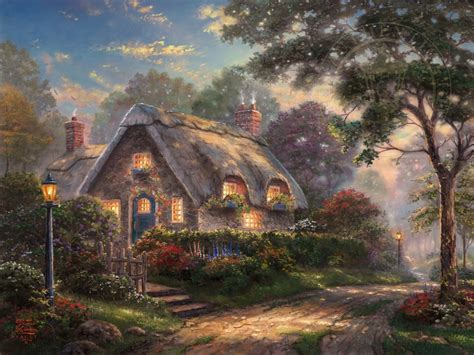 Kinkade Cottage by Lovelight Cottage Limited Edition Kinkade