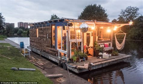 Houseboat Build by Builds A Houseboat And Sails It From Hamburg To