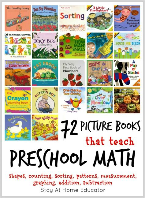 72 of the absolute best math picture books for 234 | 72 pictures books that teach preschool math concepts 1