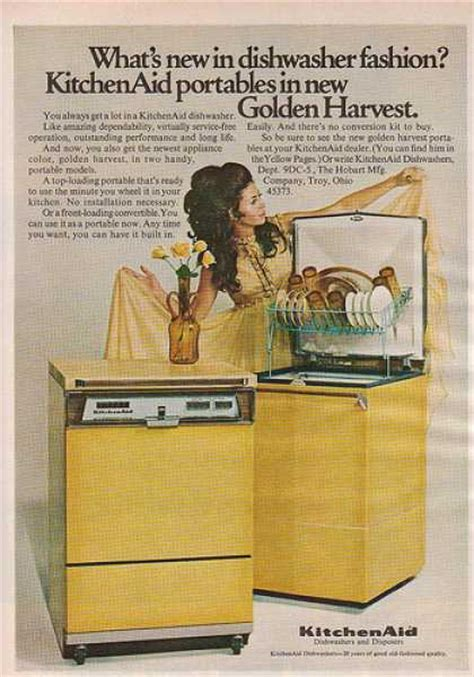 dishwasher kitchenaid portable 1960s dishwashers ads 1969 ad household brown aid kitchen harvest golden bosch 1960 miele oven troubleshooting humor
