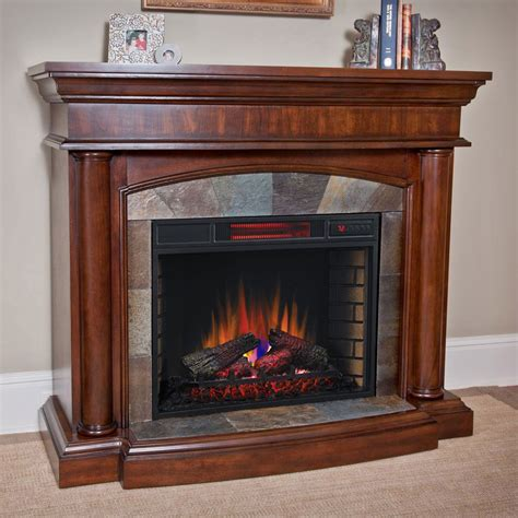 aspen infrared electric fireplace mantel package