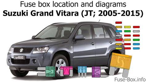 fuse box location  diagrams suzuki grand vitara jt