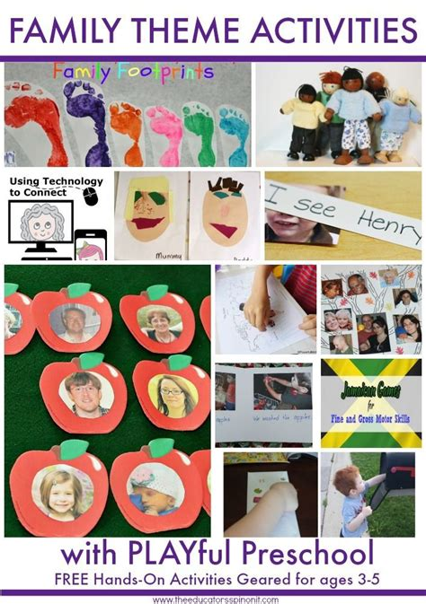 preschool activities for family theme preschool reading 957 | 003df3b6c5889ce22e2decdada67f7dc