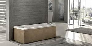 Baignoire Ilot Contre Mur : baignoire ilot contre mur baignoire lot rectangulaire contre mur acrylique olia baignoire ~ Nature-et-papiers.com Idées de Décoration