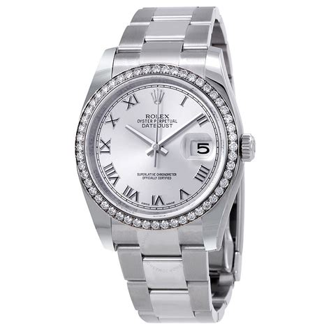 Rolex Oyster Perpetual Datejust 36 Silver Dial Stainless ...